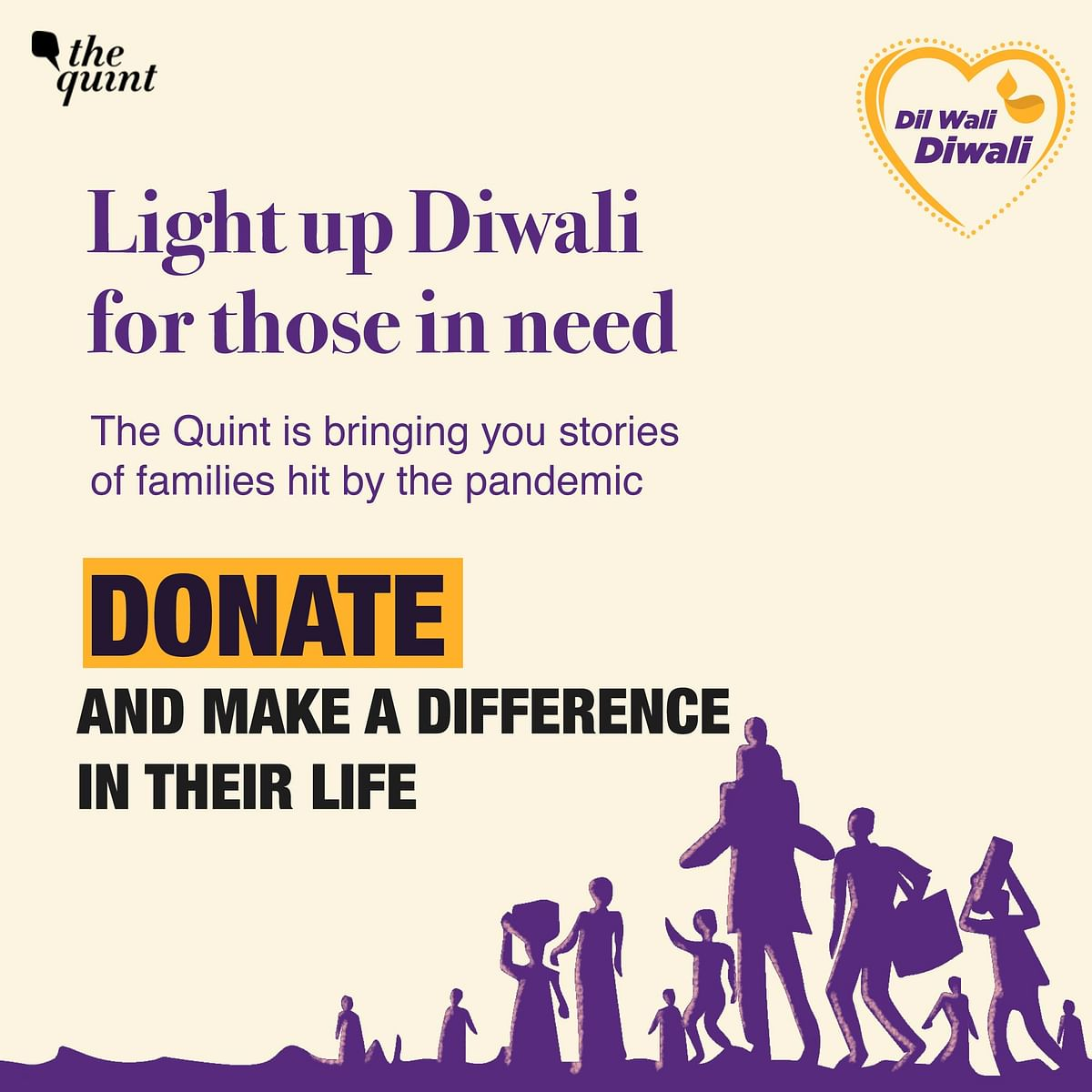 'Dil Wali Diwali', your chance to help those who suffered during the pandemic.