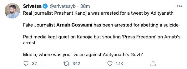BJP Leaders Slam Arnab's Arrest; Maha Govt Says 'Nobody Above Law'