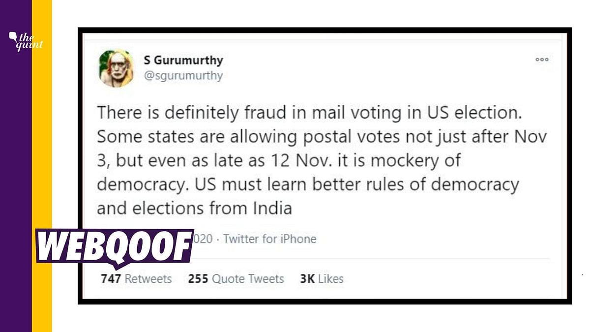 Allowing Postal Votes After 3 Nov Is No Recipe for Election Fraud