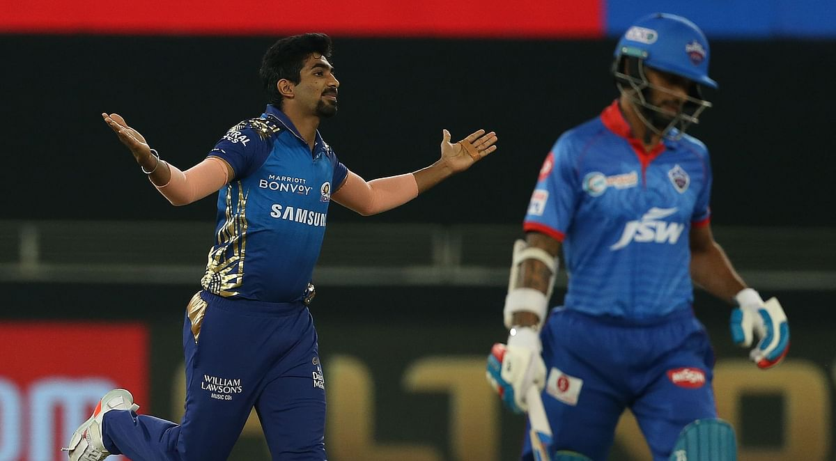 Jasprit Bumrah took wickets of Shikhar Dhawan, Shreyas Iyer, Marcus Stoinis and Daniel Sams to win the Player of the Match Award