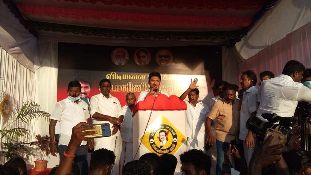 DMK Youth Secy Udhayanidhi Stalin Detained During Poll Campaign