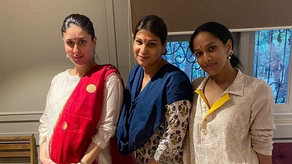 Kareena Kapoor with her manager Poonam Damania and Masaba Gupta.