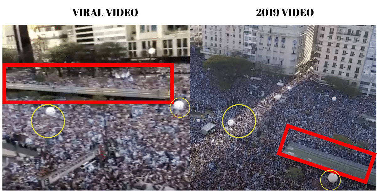 Left: Viral video. Right: 2019 video.