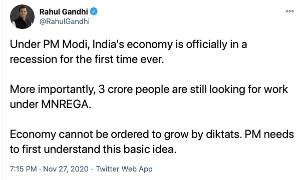 Under Modi, Economy Officially Under Recession: Twitter on GDP