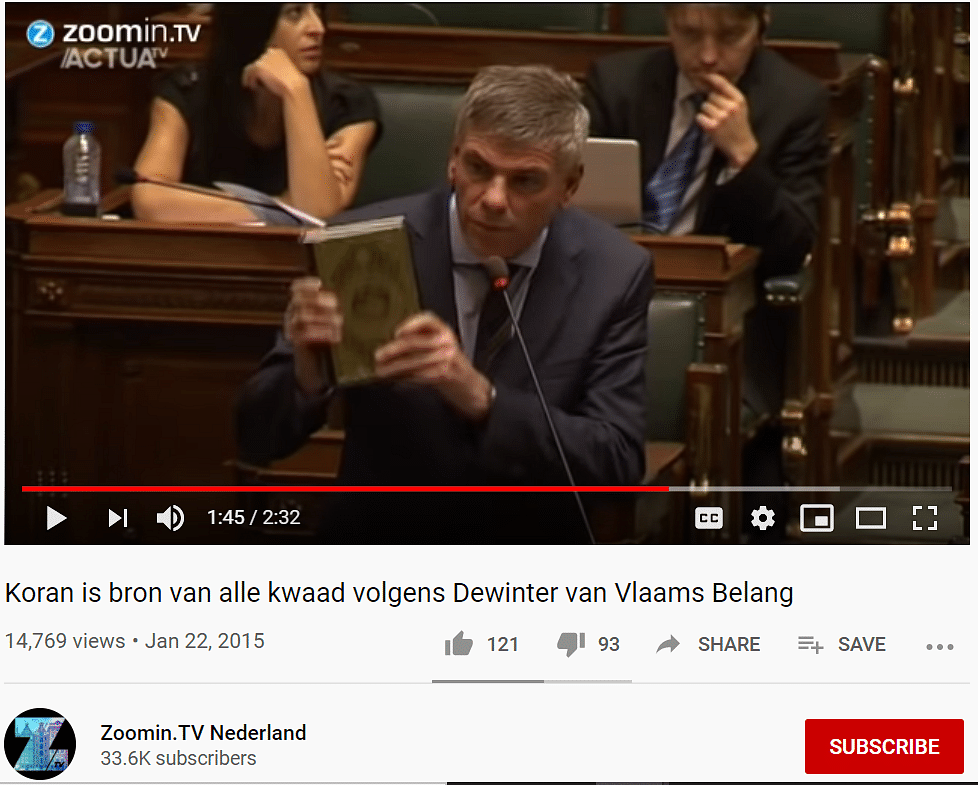 Old Video From Belgium Shared As French Parl's Discussion on Quran