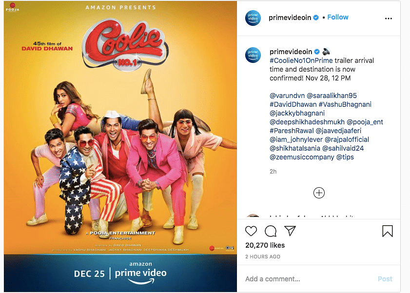 New 'Coolie No 1' Poster Shows Five Avatars of Varun Dhawan