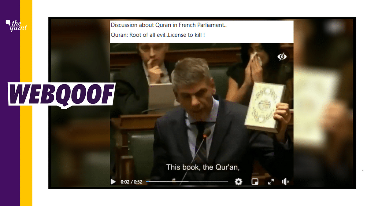 An old 2015 video of Filip Dewinter remarks in the Belgian Parliament has been revived as a recent discussion on Quran in the French Parliament.