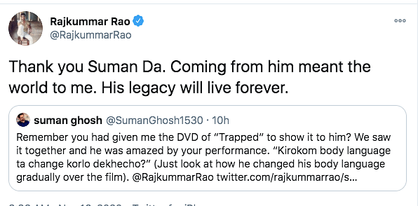 Rajkummar on What Soumitra Da's Reaction to Trapped Meant to Him