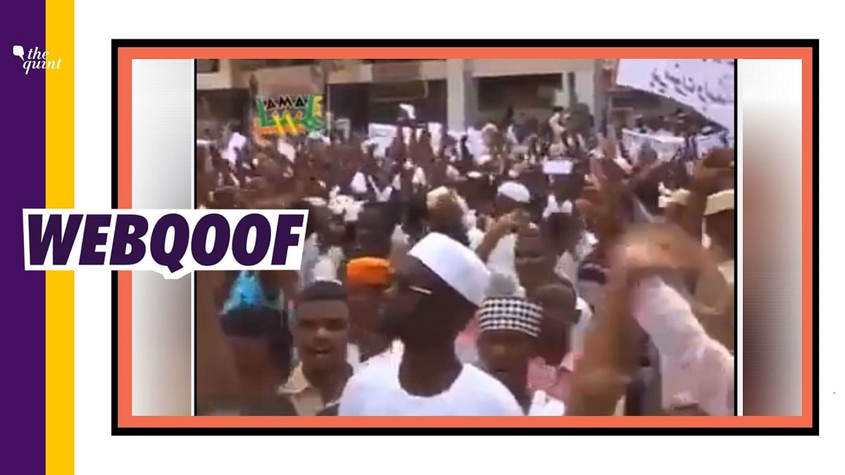 A video of protesters clashing with security forces is doing the rounds on the internet with a claim that it is from Sudan where Muslims attacked the French embassy.
