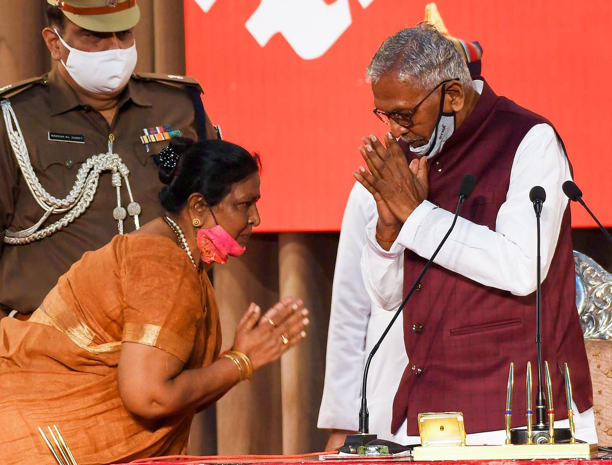 Renu Devi takes oath as deputy CM of Bihar