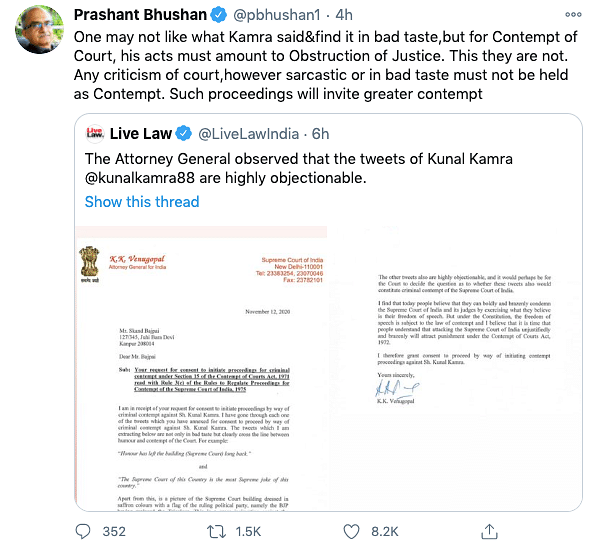 AG Gives Consent for Contempt of Court Plea Against Kunal Kamra