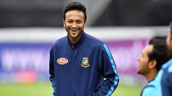 File Image: Shakib Al Hasan at a training session with Bangladesh.
