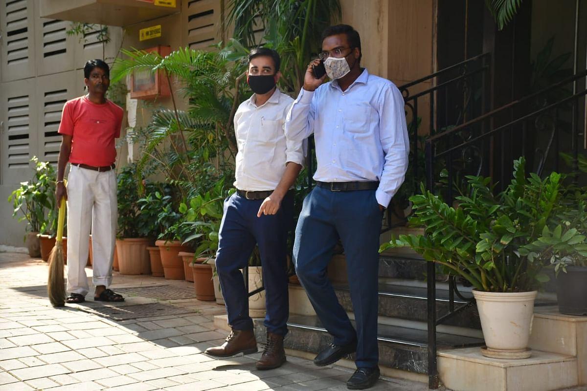 NCB officials at Arjun Rampal's house.