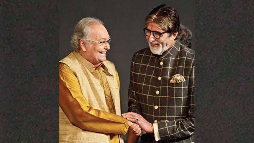 Amitabh Bachchan fondly remembers meeting Soumitra Chatterjee.