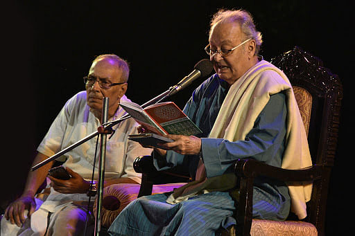 """""""Soumitra was a writer, a poet, a reciter of verses and towards the end of his life he had started painting as well."""" Sharmila Tagore"""