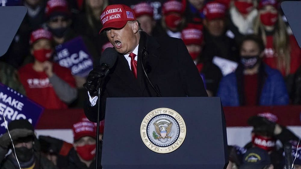 Trump has made an appeal for 50,000 volunteers to be present at polling locations to 'monitor' the vote.