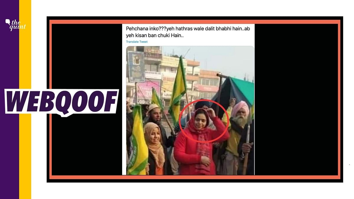 Woman in the Image Isn't the One Who Visited Hathras Victim's Kin