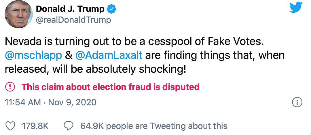 Refusing to Concede, Trump Still Tweets of 'Big Presidential Win'