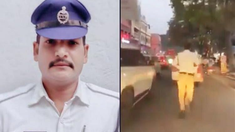 Hyderabad Cop Runs 2 Km To Clear Busy Road For An Ambulance