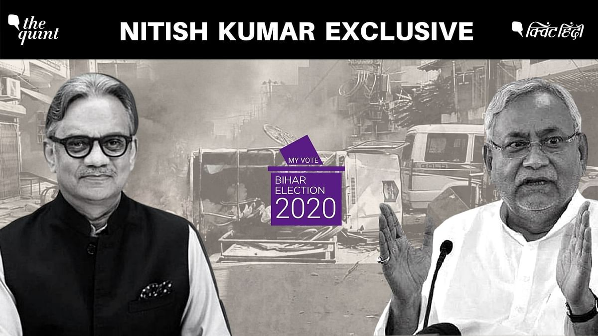 Bihar Chief Minister Nitish Kumar on Sunday, 1 November commented on the Munger unrest in an exclusive conversation with The Quint's Editorial Director Sanjay Pugalia and said that it was a one-off incident that will not have any political repercussions.