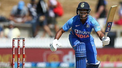 India's Mayank Agarwal in action.