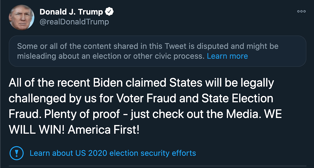 'Recent Biden-Claimed States Will Be Challenged for Fraud': Trump