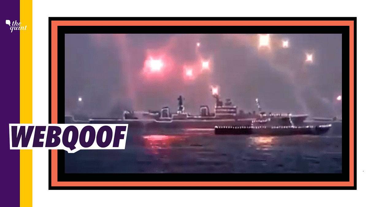 Fact-Check on India Navy Diwali Celebrations: The Illuminated warships and fireworks were part of the International Fleet Review that took place in 2016.