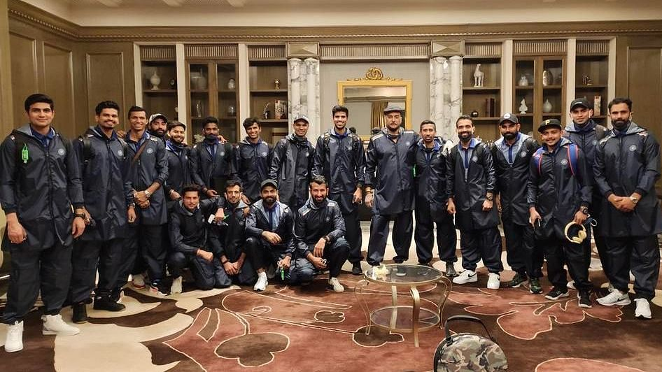 Team India before their departure for Australia