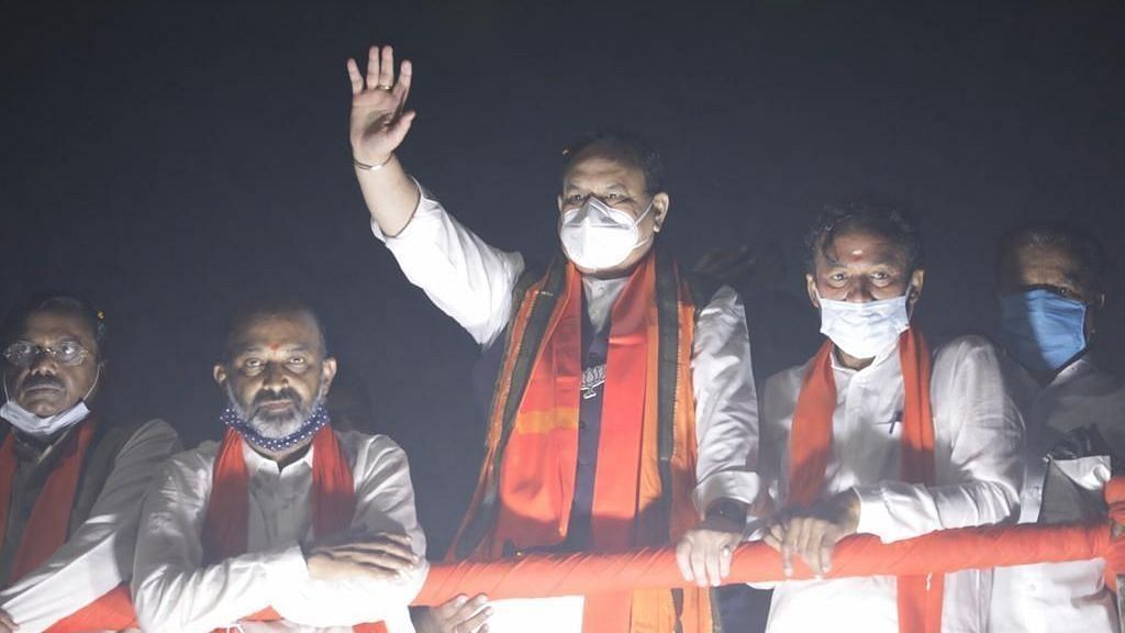 BJP Will Go Anywhere To End Corrupt Rule: Nadda Campaigns in Hyd