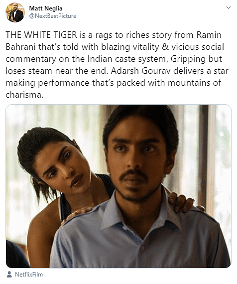Critics Applaud Adarsh Gourav's Acting In 'The White Tiger'