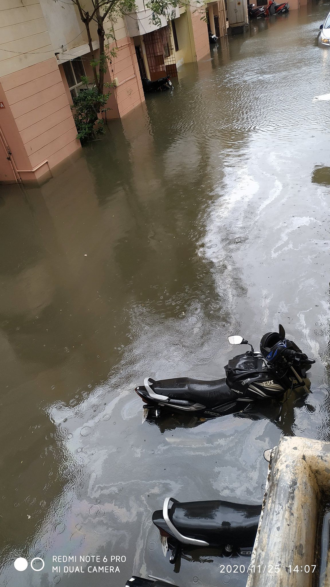 Water level rises up to 2 feet in AGS colony, Velachery, Chennai.
