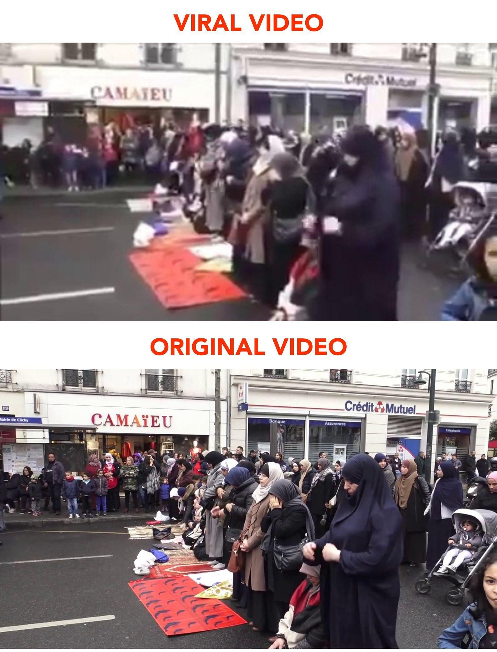 Tidak, Video Muslim Berdoa di Prancis Ini Bukan Terbaru