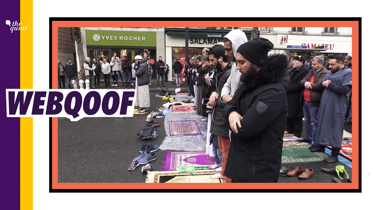 An old video of Muslims offering prayers in the streets of Clichy, a suburb near Paris, has been revived as a recent incident.
