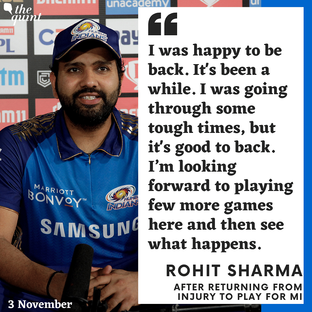 My Hamstring 'Absolutely' Fine, Says Rohit Sharma After SRH Game