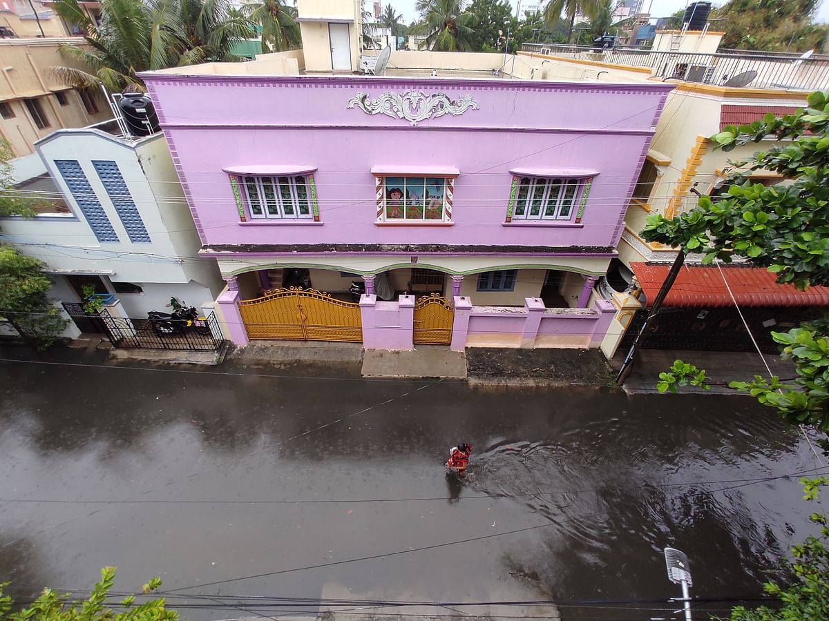 Waterlogged roads in Chennai.