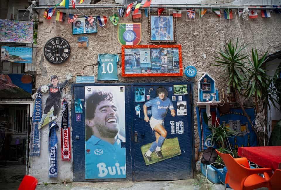 Tributes in Naples for Diego Maradona