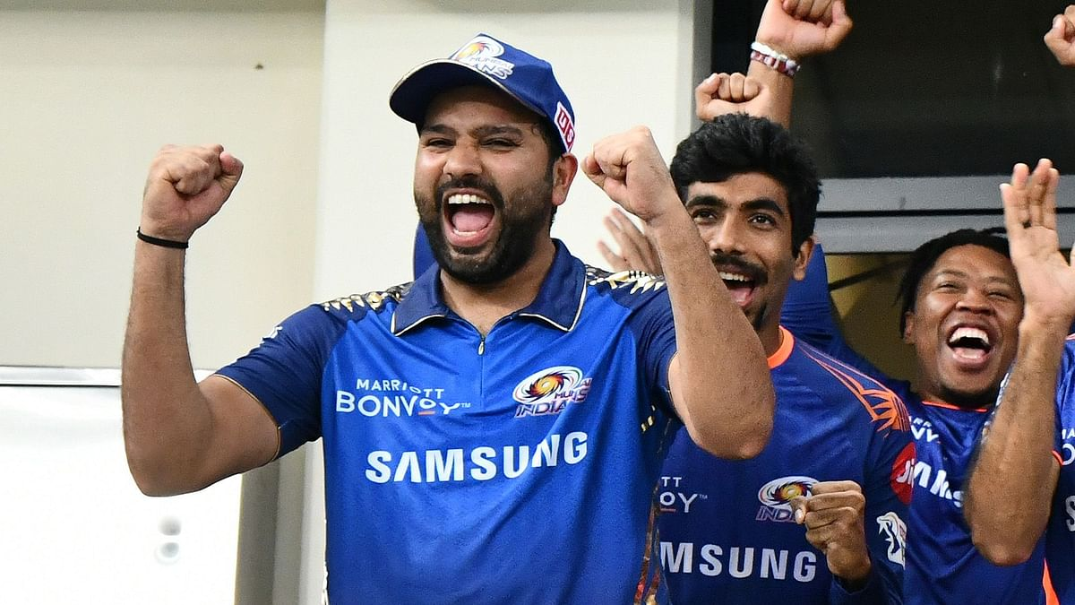 Mumbai Indians captain Rohit Sharma celebrates winning the IPL final yet again.