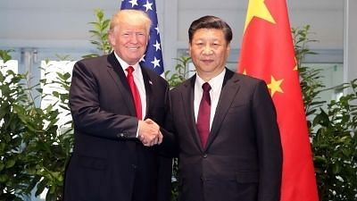 A file photo of Chinese President Xi Jinping and US President Donald Trump.