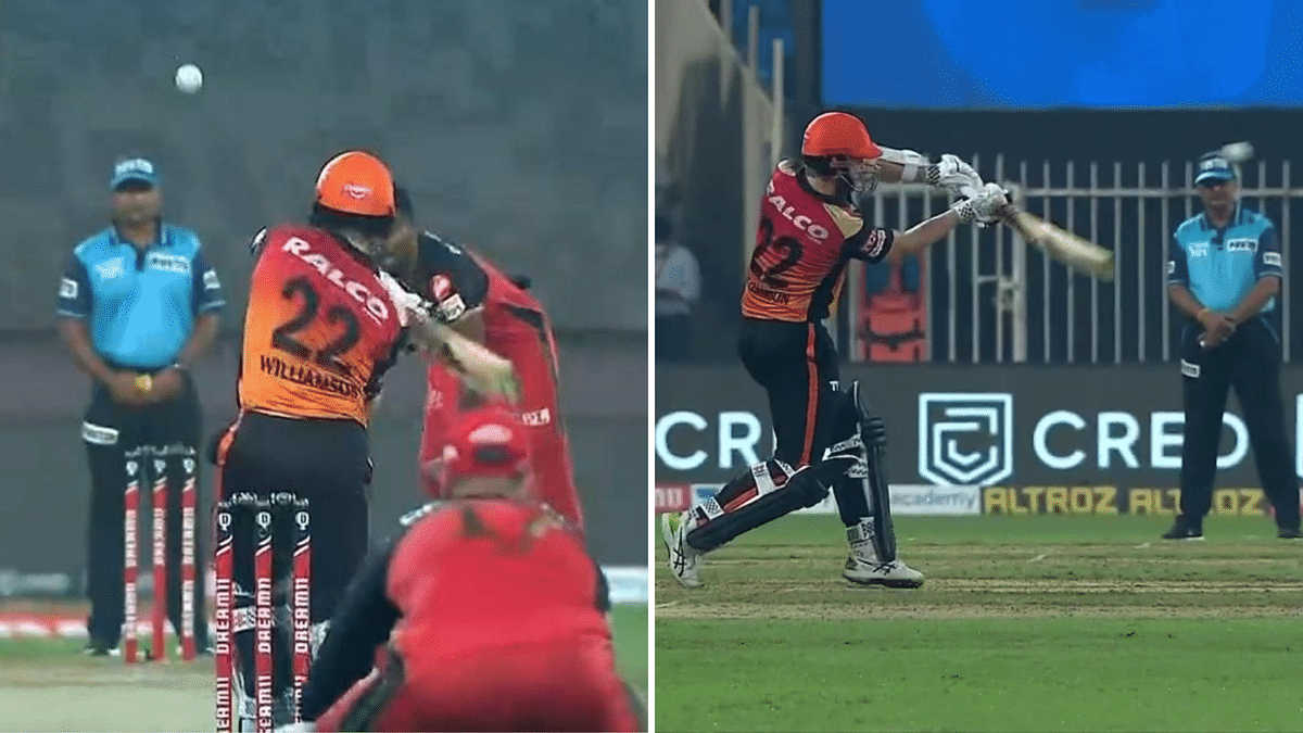 A chest-high ball to Kane Williamson by Isuru Udana was not called a no-ball