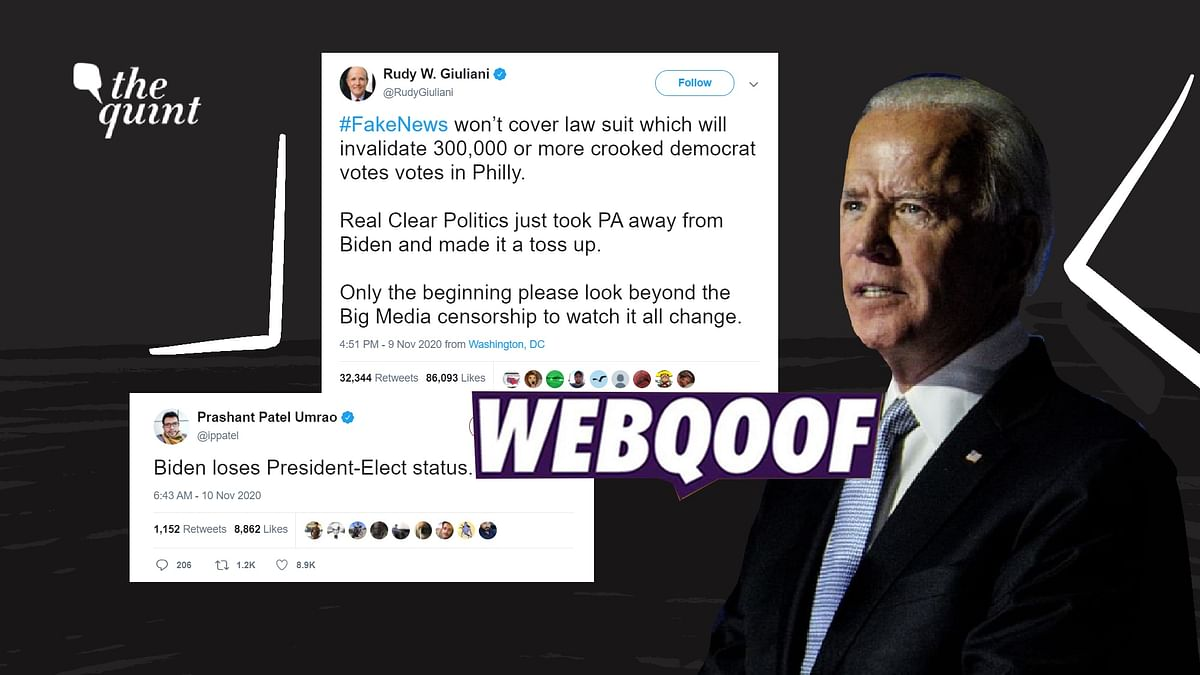 False Claims About Biden Losing 'President-Elect' Status Go Viral