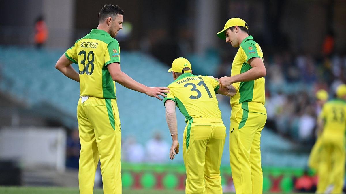 David Warner got injured during the second ODI against India in Sydney.