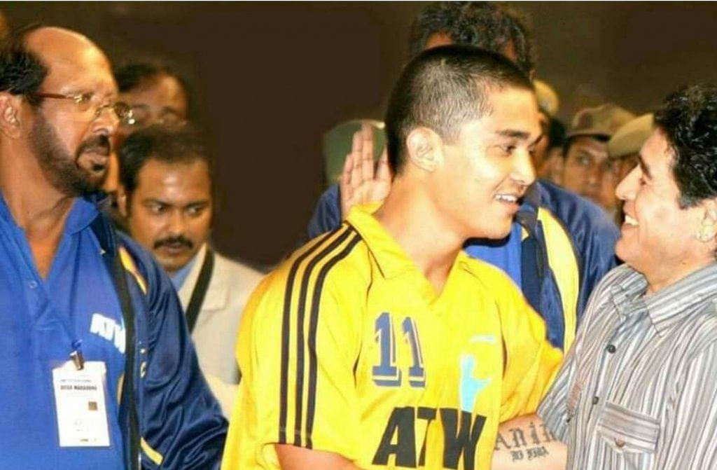 Sunil Chhetri met Diego Maradona on his trip to India in 2008.