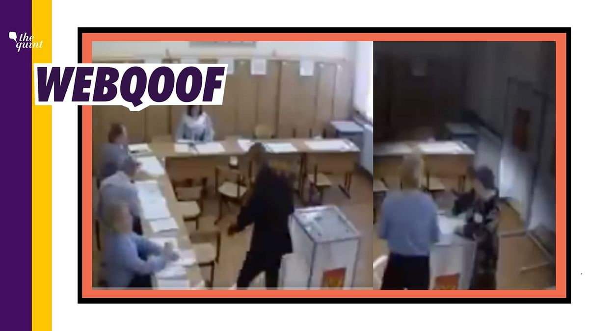An old video from Russian Presidential election allegedly showing a fraud in the voting process has been revived to falsely claim that it's from the United States of America.