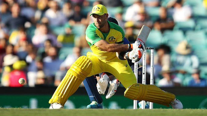Glenn Maxwell during his cameo against India at the SCG on Friday.
