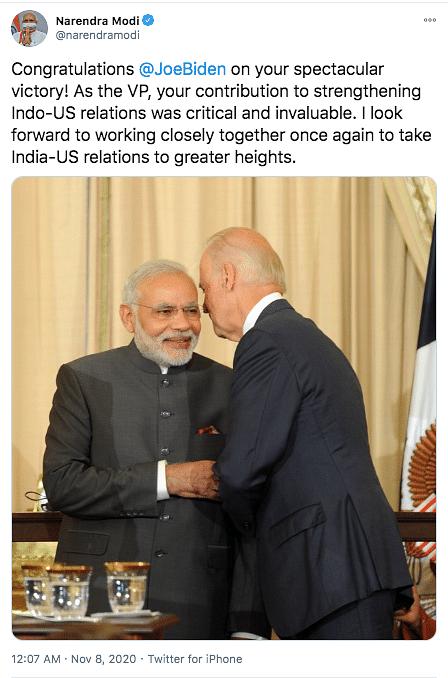 PM Modi, Other World Leaders Congratulate Biden-Harris on Win
