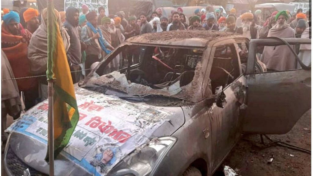 A 55-year-old man from Punjab, who had joined the agitating farmers in solidarity, was burnt alive after the car he was sleeping in caught fire.