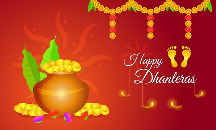 Happy Dhanteras 2020 greetings image for WhatsApp