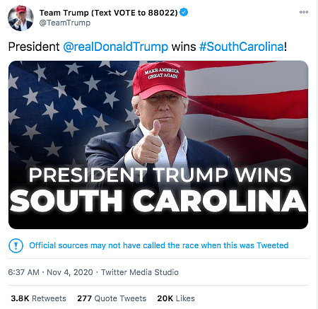 They're Trying to Steal Election: Twitter, FB Flag Trump's Posts