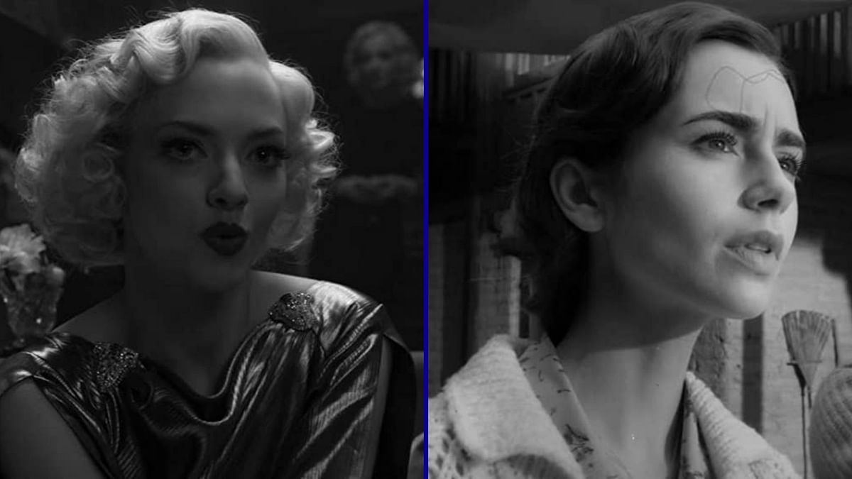 Amanda Seyfried and Lily Collins in <i>Mank</i>.