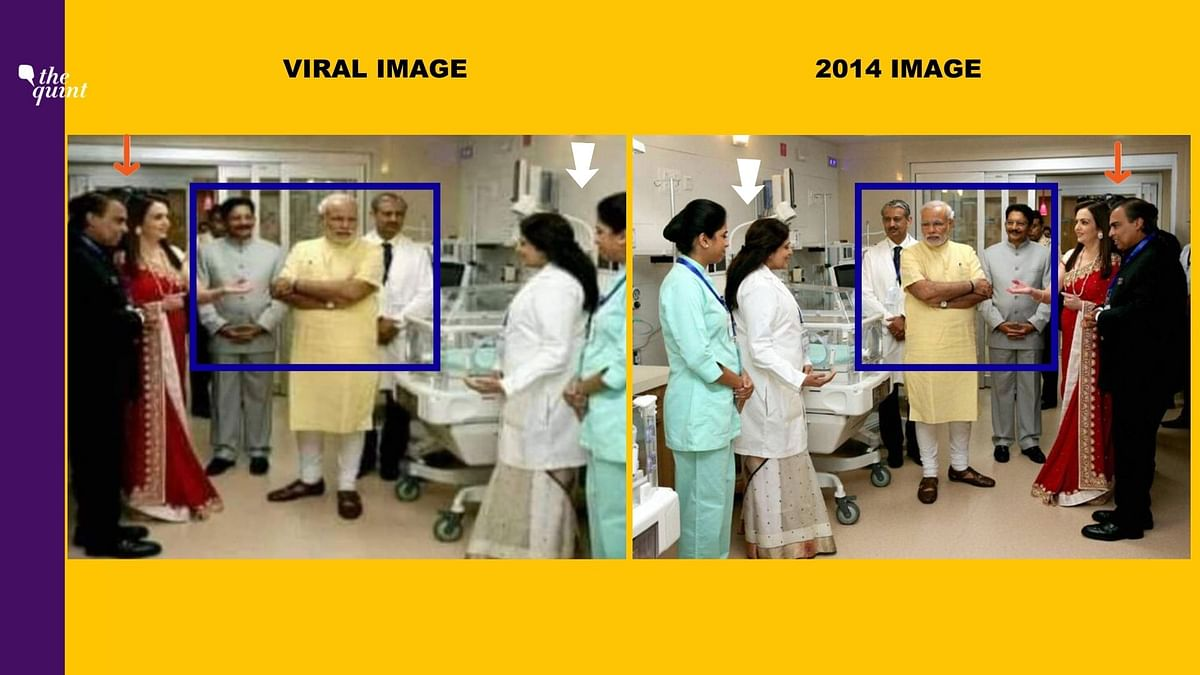 Left: Viral image. Right: 2014 image.